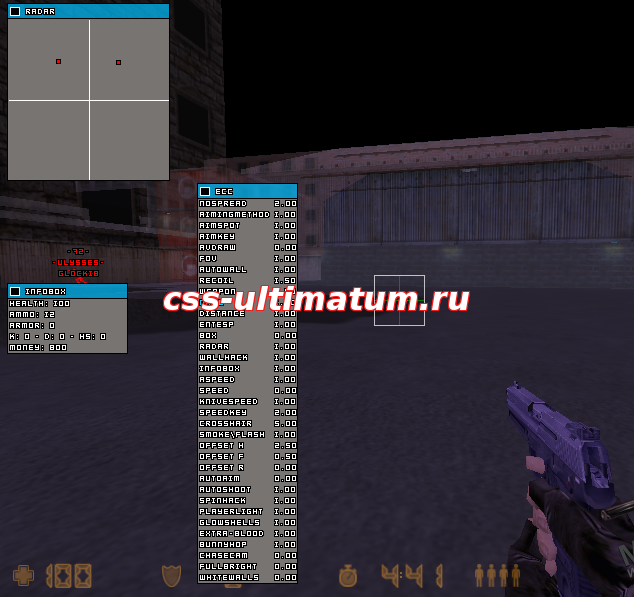 Чит новинка ECC v5.2 для Counter-Strike 1.6