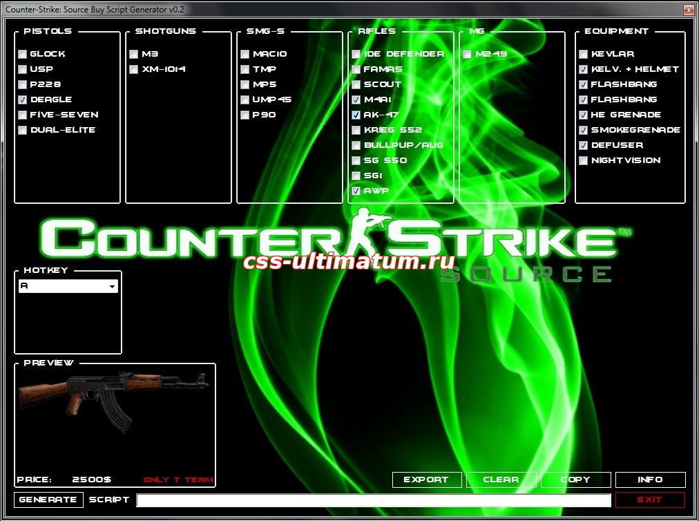 Counter-Strike: Source Buy Script